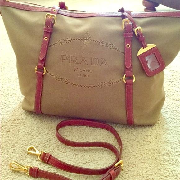 809107d34066 Prada Bags   Sold Logo Jacquard Tote Bag Br4253   Poshmark